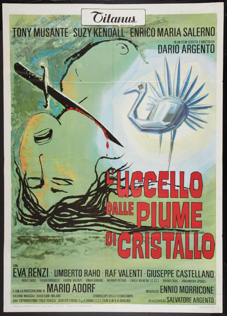 L'Uccello dalle piume di Cristallo(1970) - Manifesto 2 Fogli originale - The Bird with the crystal plumage (1970) - Original Italian 2 Fogli